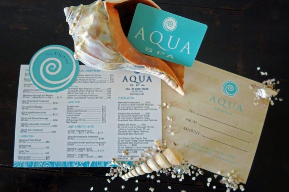 AQUA Spa Gift Cards