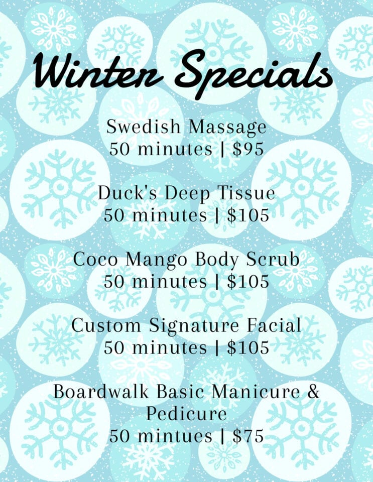 AQUA Spa Winter 2021 Specials
